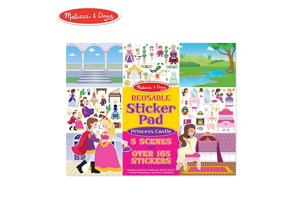 Melissa and Doug Reusable Sticker Pad: Princess Castle