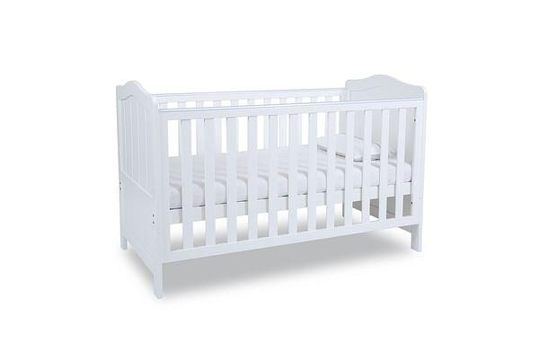 Papacare Addington Cot Bed White