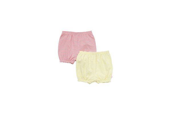 Girls Shorts Striped - Pack Of 2 - Multicolor