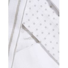 Mothercare Grey, Print And Plain Baby Muslins