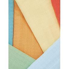 coloured muslin cloths - 6 pack