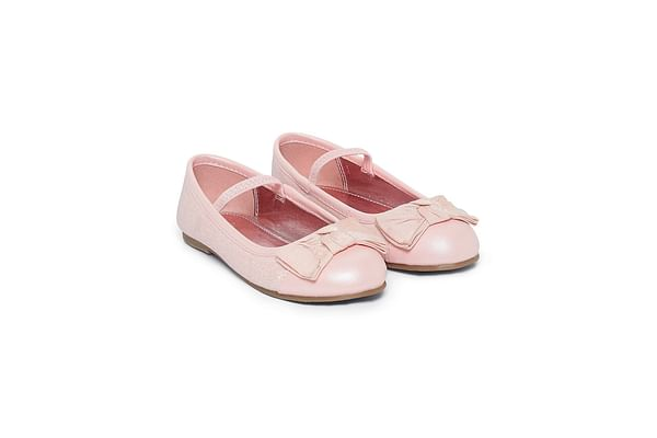 Pink Bow Ballerina Shoes