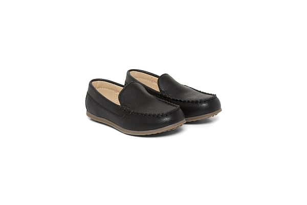 Black Punch Out Loafers