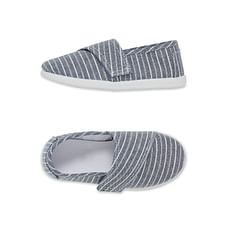 Blue Canvas Stripe Shoes