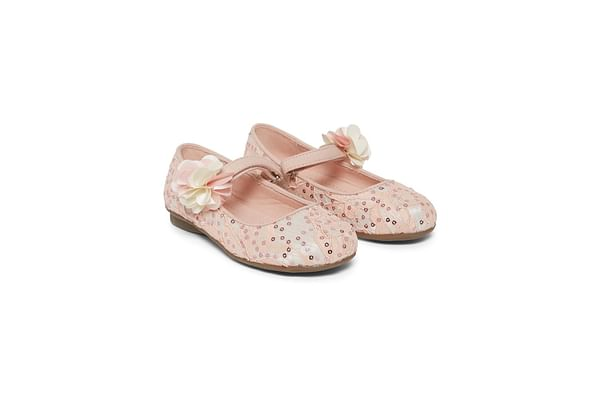 Pink Lace Ballerina Shoes