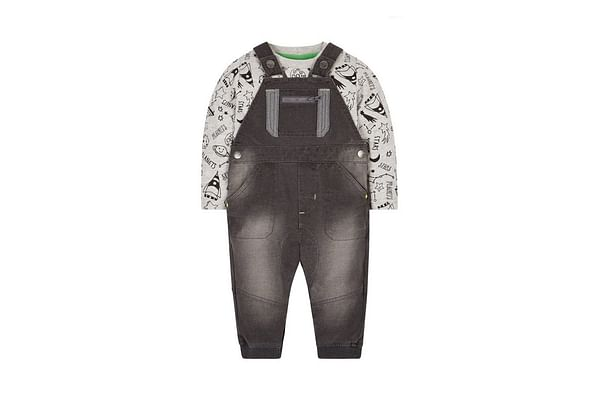 Space Dungaree And T-Shirt Set