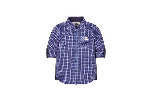 Blue Poplin Check Shirt