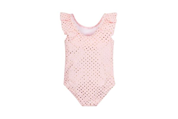 Pink And Gold Polka Dot Swimsuit