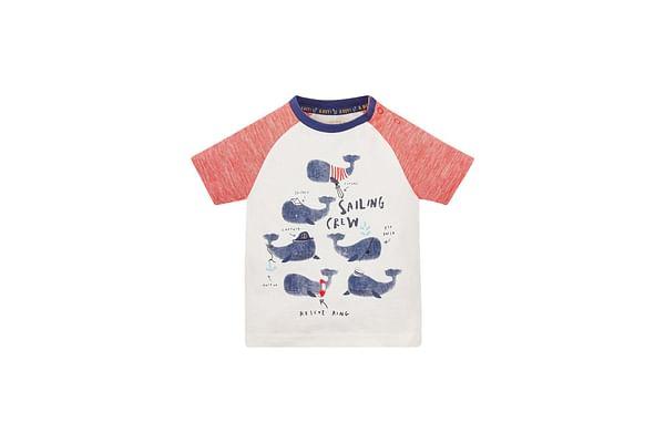 Whale Crew Raglan T-Shirt
