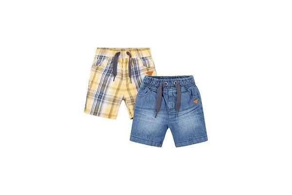 Denim And Yellow Shorts - 2 Pack