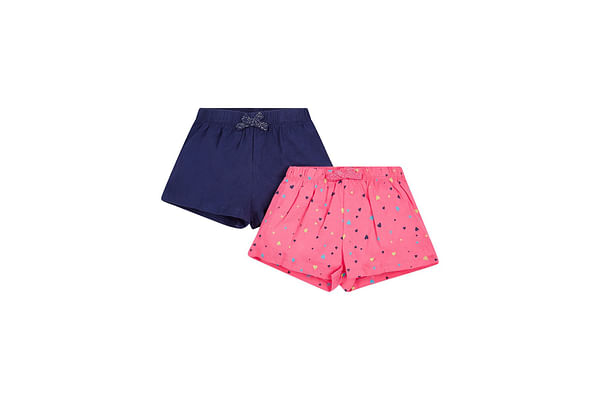 Navy And Pink Shorts - 2 Pack