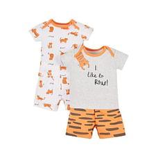 Tiger Shortie Pyjamas - 2 Pack