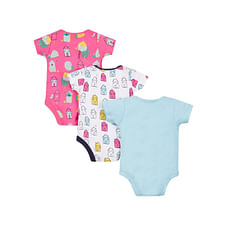 Bright Houses Bodysuits - 3 Pack