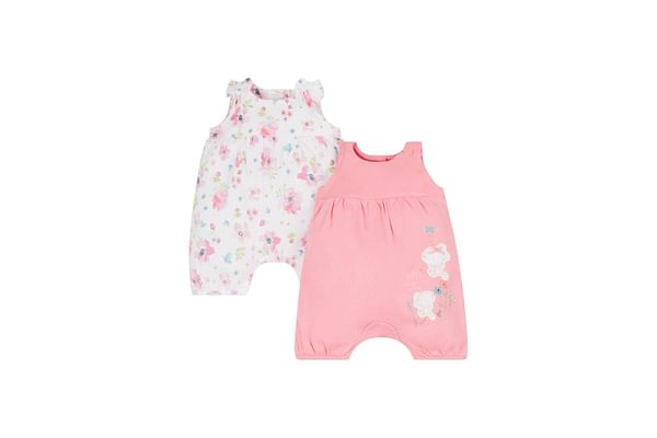 Floral Mouse Rompers - 2 Pack