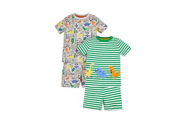 Dino City Shortie Pyjamas - 2 Pack