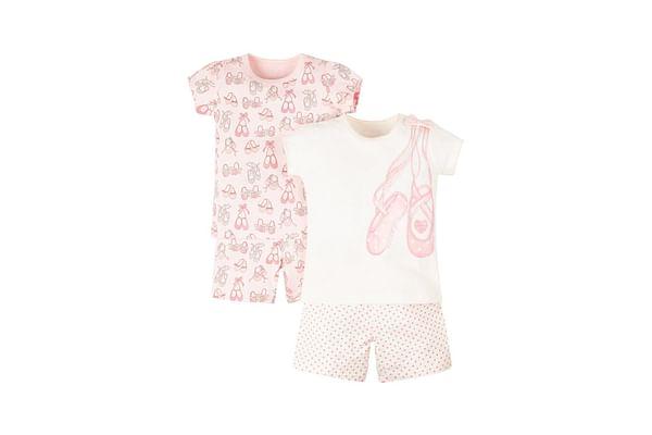 Ballet Shoes Shortie Pyjamas - 2 Pack