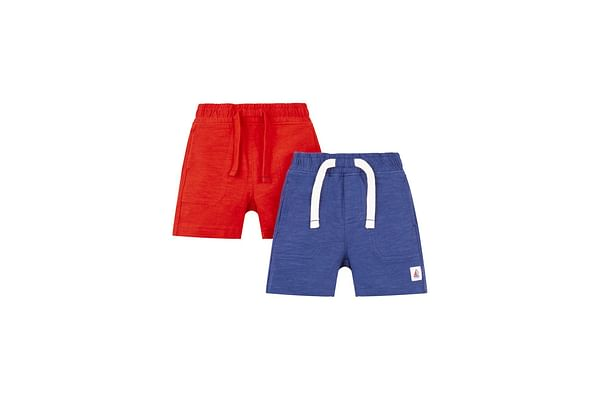 Red And Navy Shorts - 2 Pack