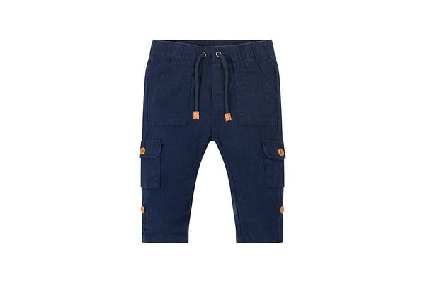 Blue Linen Mix Trousers