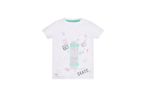 White Skate T-Shirt