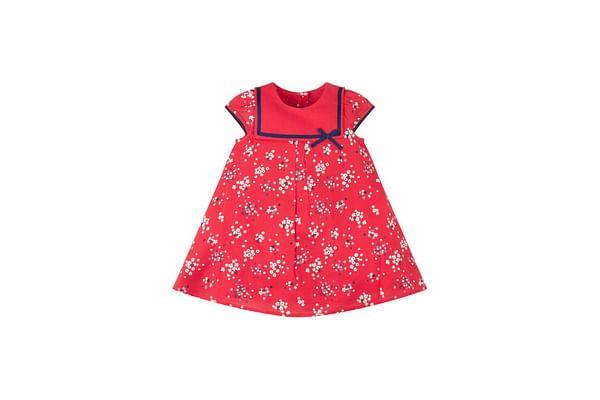 Red Floral Sailor Dress