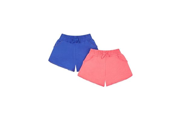 Coral And Cobalt Shorts - 2 Pack