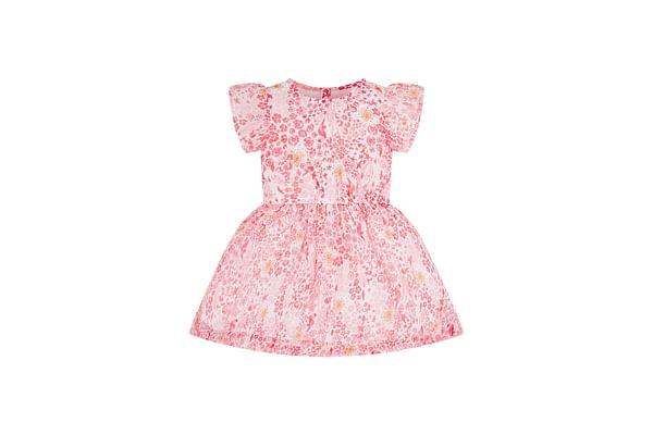 Coral Seaside Chiffon Dress