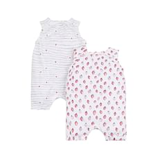 Strawberry Rompers - 2 Pack