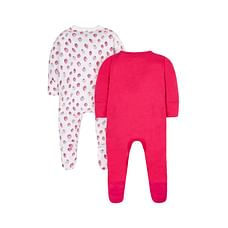 Strawberry Sleepsuits- 2 Pack