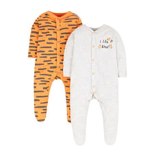 Little Tiger Sleepsuits - 2 Pack