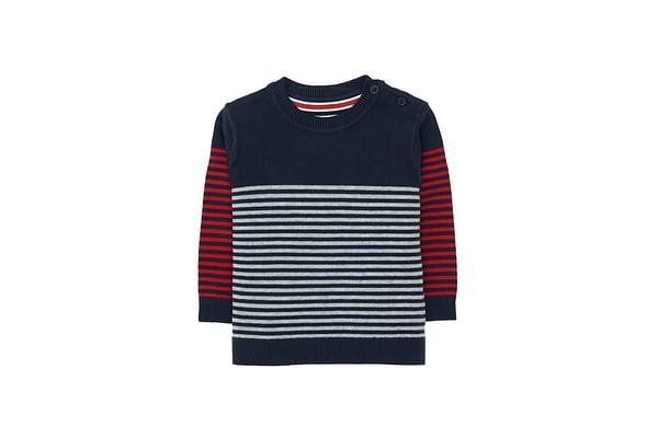 Navy Stripe Knit Jumper
