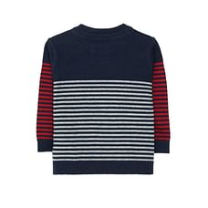 Navy Stripe Knit Jumper