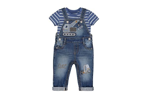 Truck Dungarees And T-Shirt Set