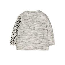 Grey Leopard Sweat Top