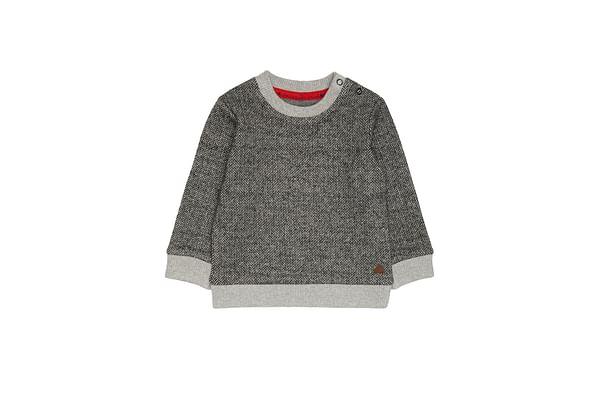 Grey Herringbone Sweat Top