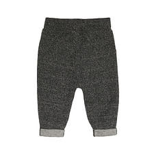 Boys Trouser Textured Roll Up - Grey