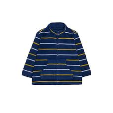 Navy, Yellow And White Stripe Fleece
