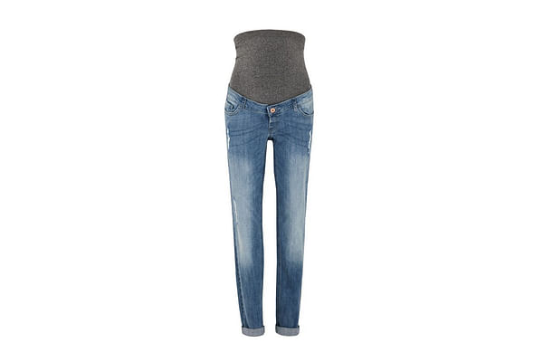 Over The Bump Ripped Maternity Girlfriend Jeans