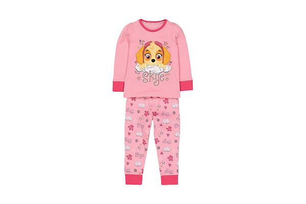 Girls Full Sleeves Pyjamas Paw Patrol Print - Pink