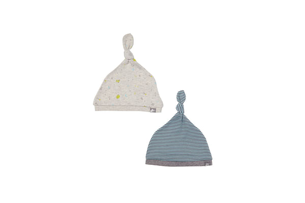 Boys Hats Space Print And Stripe - Pack Of 2 - Multicolor
