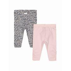 Pink Floral Leggings - 2 Pack