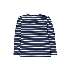Navy Striped Flower T-Shirt