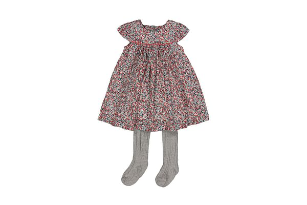 Flower Dress And Tights