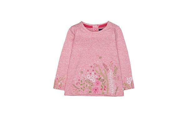 Pink Marl Floral Border T-Shirt