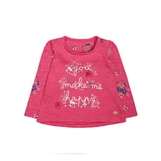 Pink Floral Happy T-Shirt