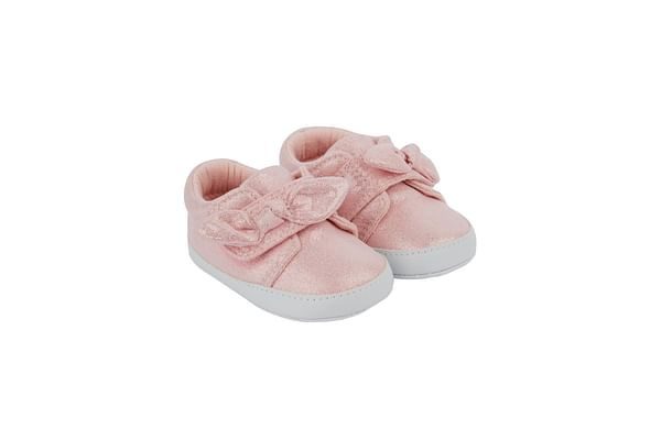 Pink Sparkle Bow Trainers