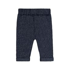 Navy Textile Trousers