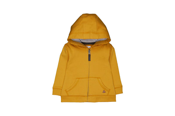 Mustard Zip-Through Hoodie