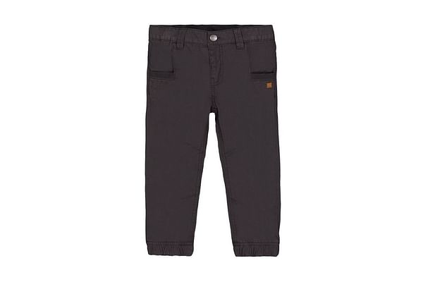Grey Jersey-Lined Woven Trousers