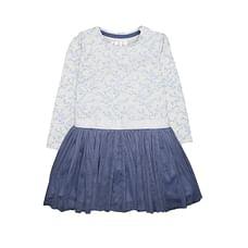 Silver And Blue Sprig Twofer Dress