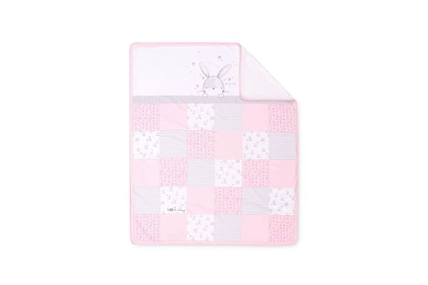 my first bed in bag - pink bunny